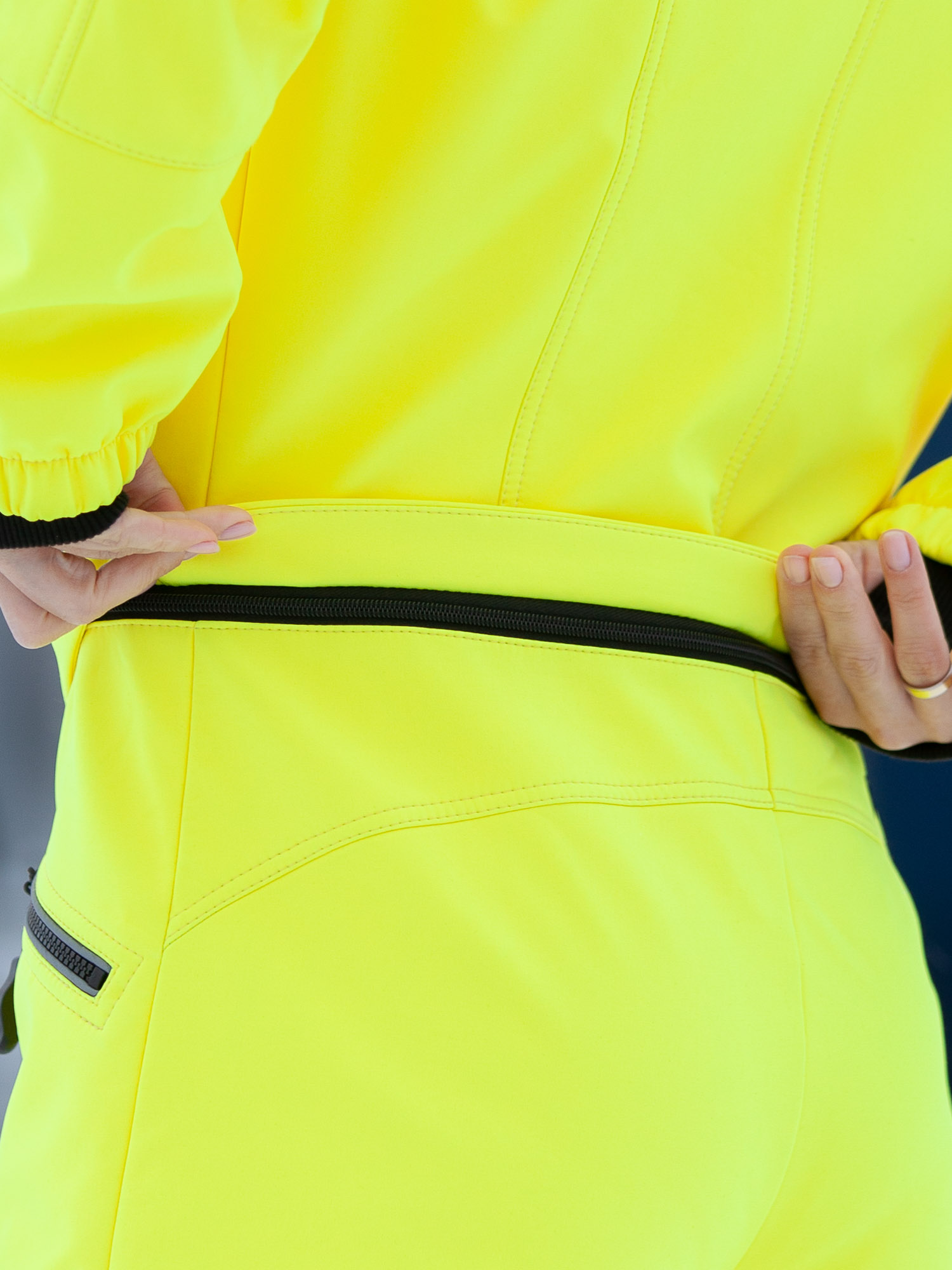 Комбинезон мембрана с гигиенич молнией лимон
