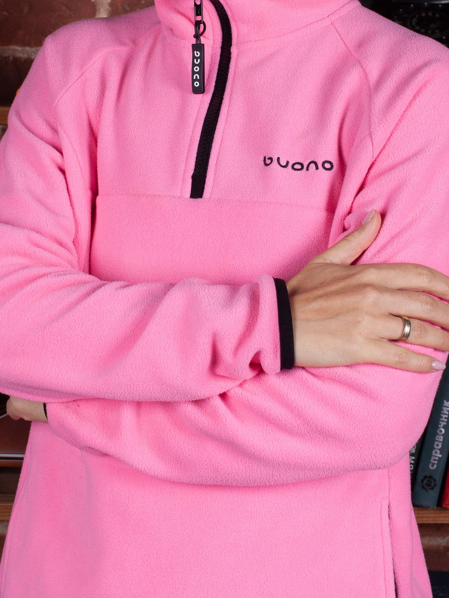 Толстовка флис розовая