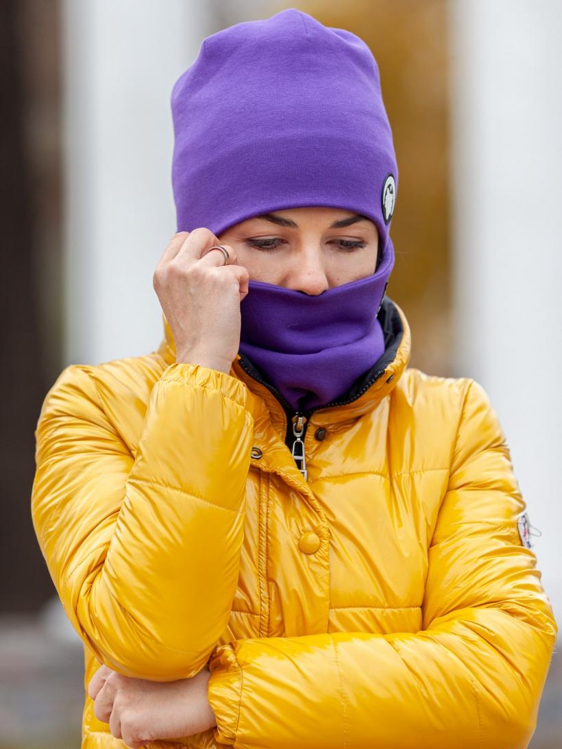 Шарф-снуд фиолетовый