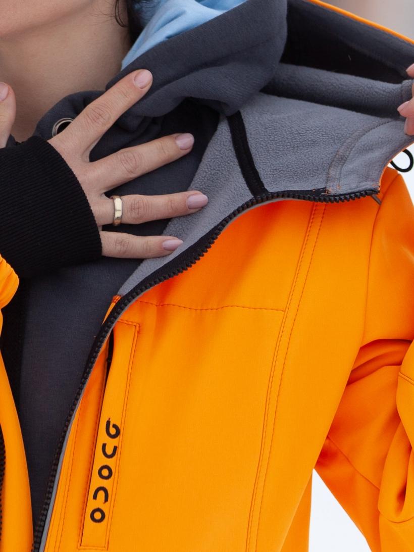 Комбинезон мембрана с гигиенич молнией апельсин