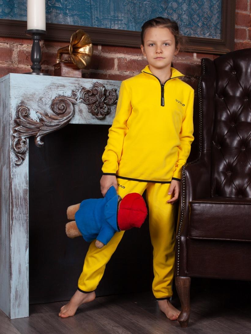 Брюки дет флис желтые