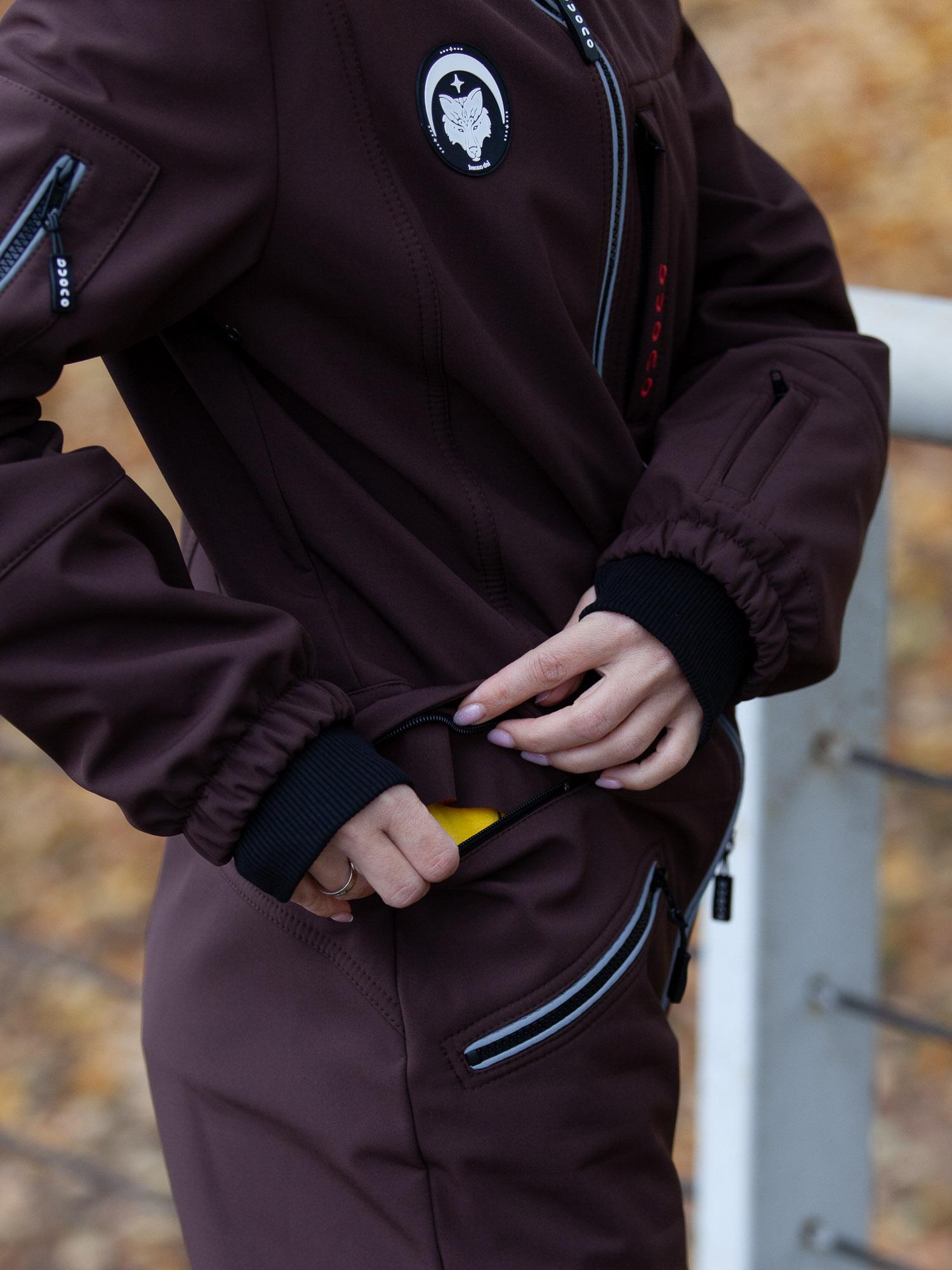 Комбинезон мембрана с гигиенич молнией  коричневый