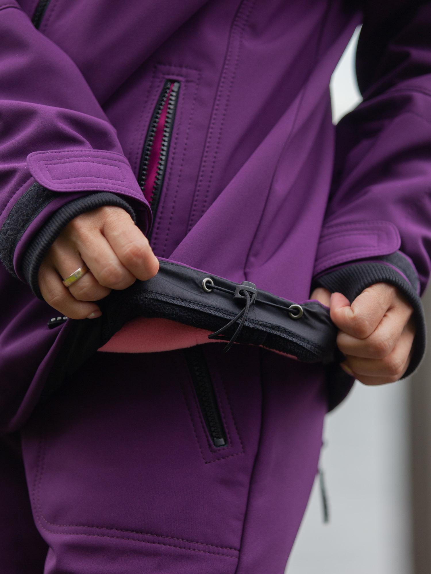 Куртка лиловый-черный